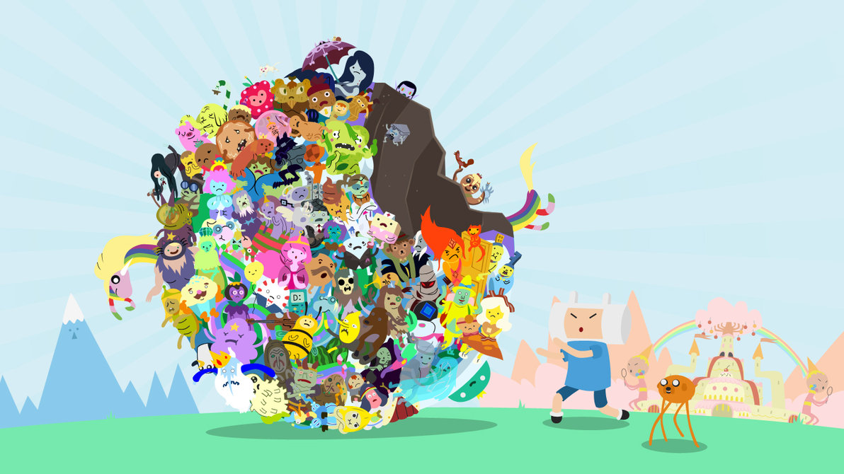 Adventure Time With Finn and Jake images Rolled Characters xD HD wallpaper and background photos