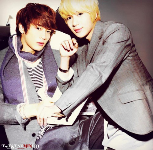shinee wallpaper containing a well dressed person, an outerwear, and a box mantel entitled SHINee Minho and Taemin - 2Min