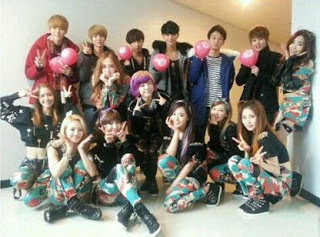 Girls Generation/SNSD wallpaper called SNSD with EXO-M~♥♥