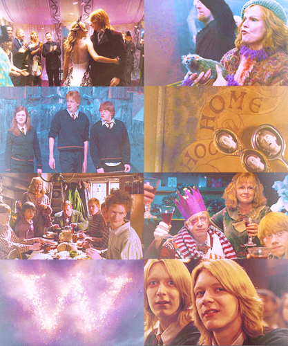 Screencaps meme - Colours abound + The Weasleys