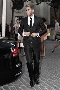 Sergio Ramos wallpaper containing a business suit, a suit, and a well dressed person entitled Sergio Ramos