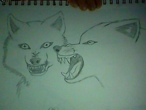 Snarling serigala