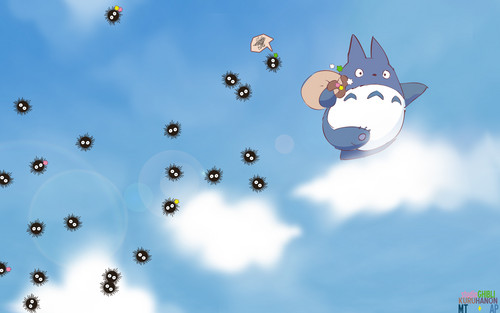 My Neighbor Totoro fondo de pantalla entitled Soot Sprites
