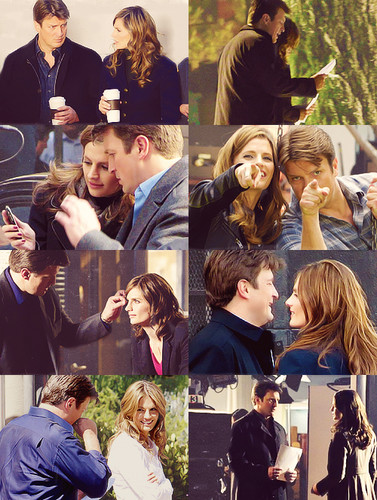 Nathan Fillion & Stana Katic वॉलपेपर titled StaNathan<3