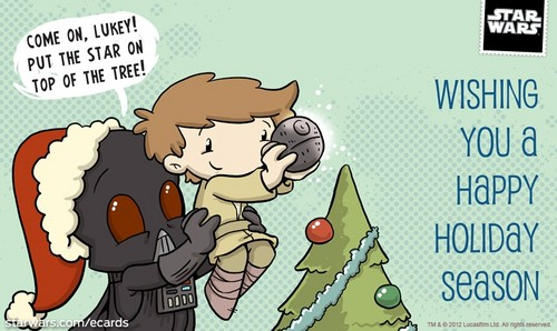 Star Wars Christmas e card
