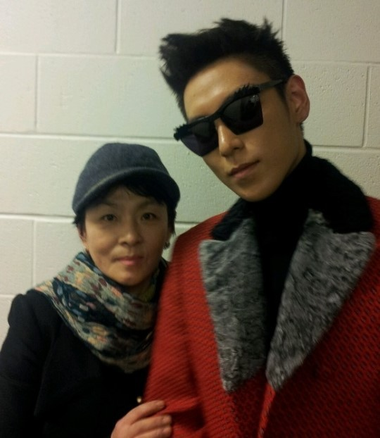 TOP with his mom
