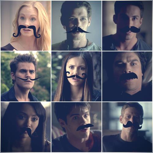 TVD + moustache
