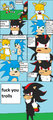 Tails gets trolled - sonic-the-hedgehog fan art