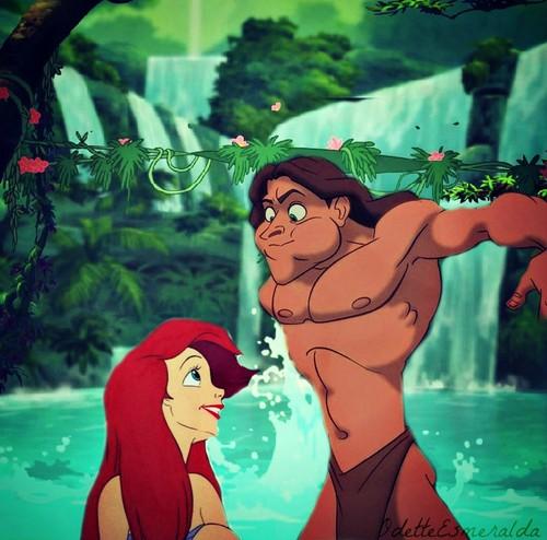 Tarzan and Ariel