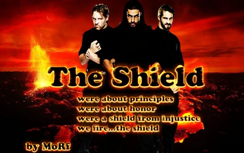 WWE wallpaper possibly with anime called The Shield wallpaper