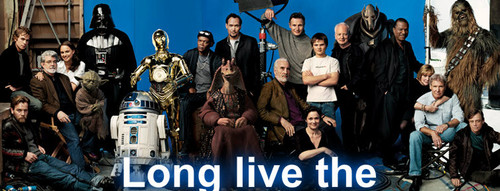 The Star Wars cast Eps I - VI
