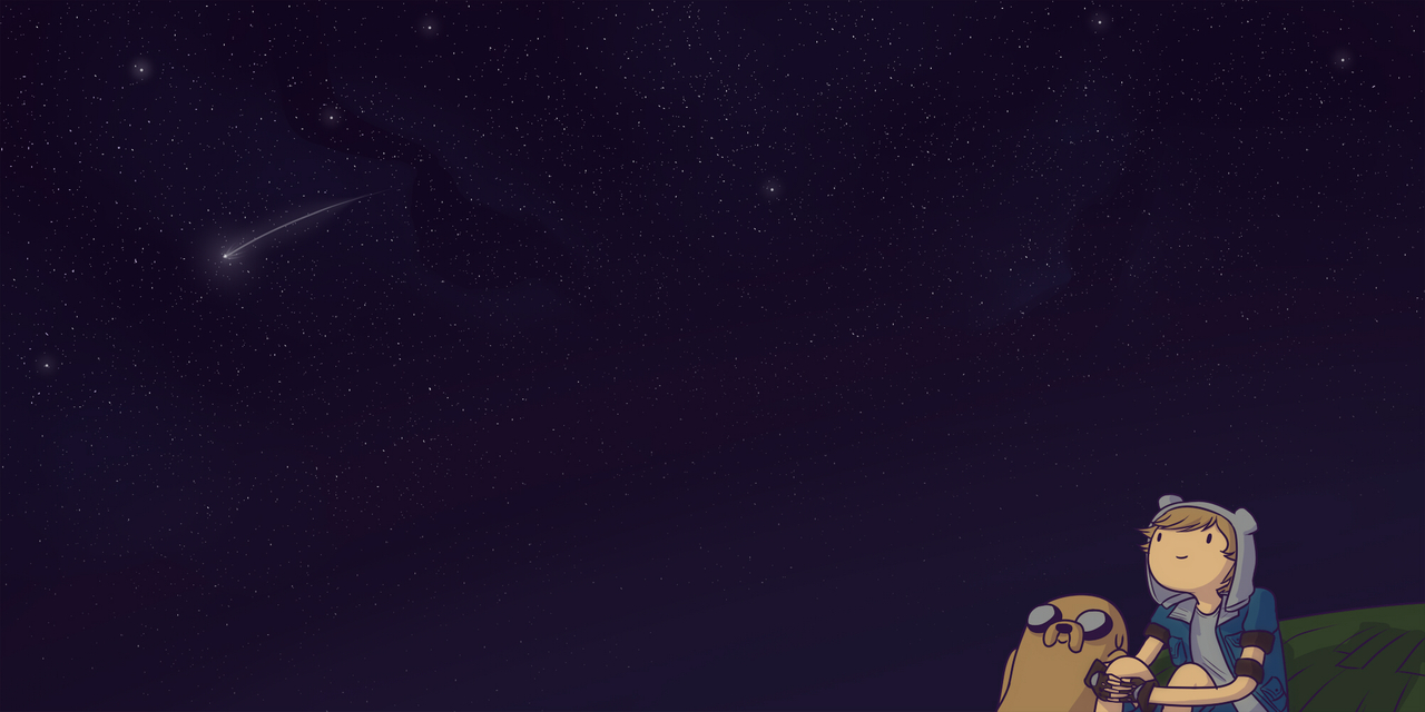 The night sky in the Land of Ooo