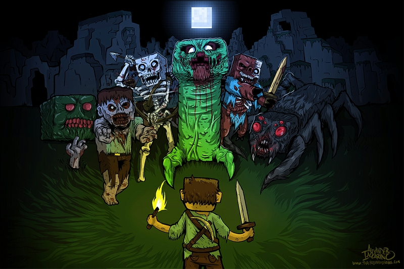 Minecraft the undead minecraft mobs