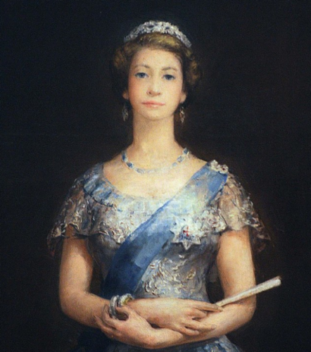 This portrait of クイーン Elizabeth II, which was hidden for years
