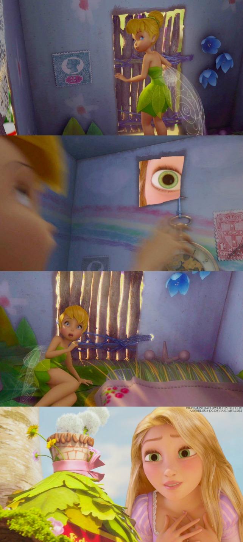 Tinkerbell Rapunzel Disney Crossover Photo 33302212