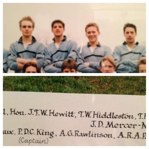 Tom Hiddleston Rugby Team!