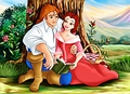 Walt Disney Fan Art - Prince Adam & Princess Belle - walt-disney-characters fan art
