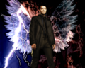 Winged Cas - misha-collins wallpaper