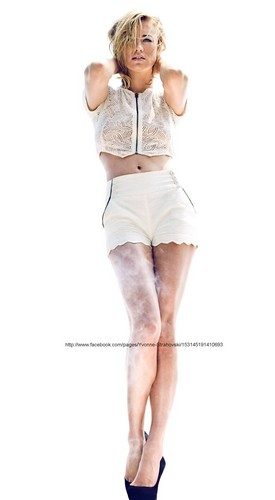Yvonne Strahovski wallpaper possibly containing a playsuit and tights entitled Yvonne