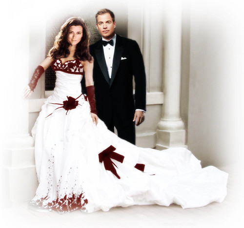 NCIS wallpaper possibly with a bridesmaid, a bridal gown, and a gown called Ziva & Tony getting married