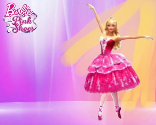 Barbie Movies Wallpaper Probably With A Fountain Titled In The Pink Shoes