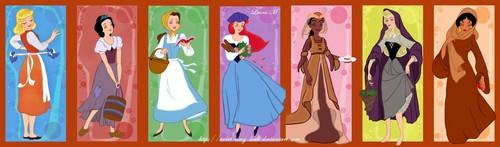 迪士尼 princesses peasants