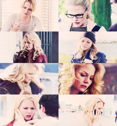 emma swan, looking down