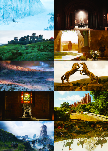 Game Of Thrones + scenery, season 1
