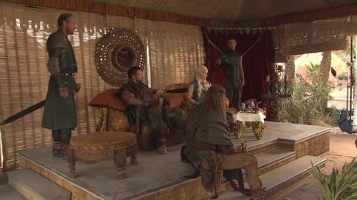 Jorah, Daenerys, Mero, Grey Worm & Daario Naharis