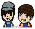 ian/anthony smosh mario thing - smosh fan art