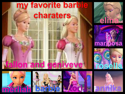 jfren43's paborito barbie charaters