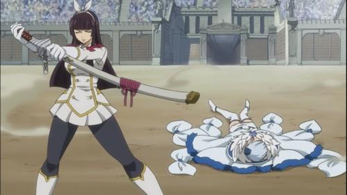 kagura defeats Yukino