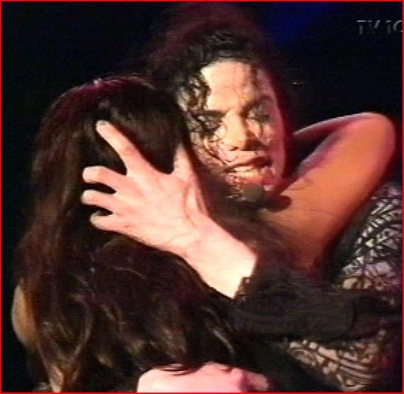 michael giving a hug