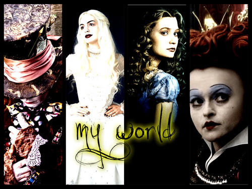 Alice in Wonderland (2010) wallpaper called my world