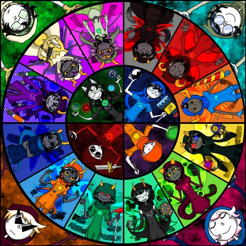 Homestuck پیپر وال containing a stained glass window entitled piicture2