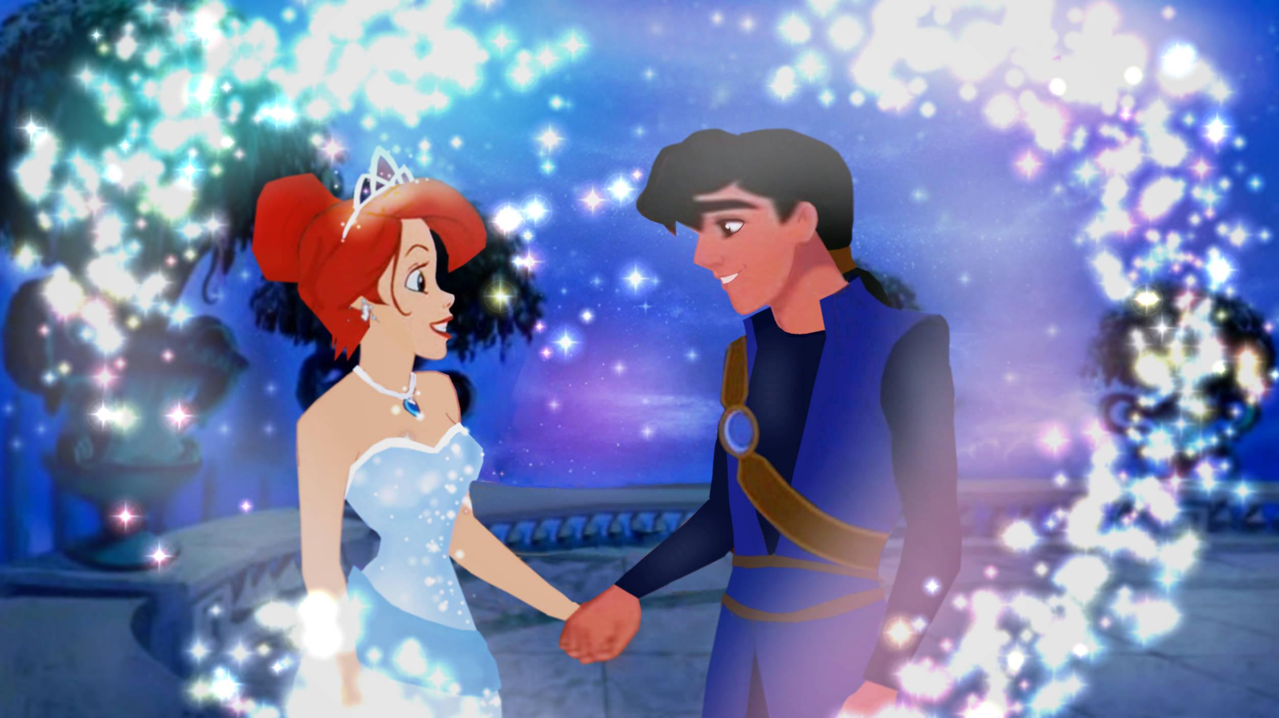 prince Aladdin and princess Ariel