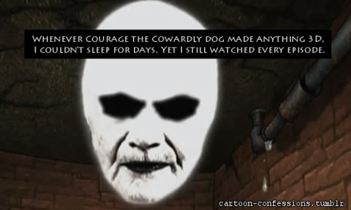 Courage the Cowardly Dog Обои titled scary 3d