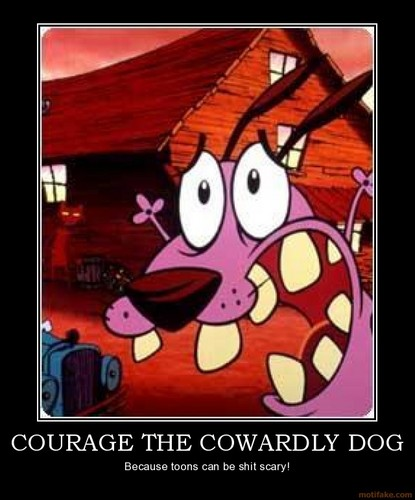 Courage the Cowardly Dog Обои containing Аниме called scary