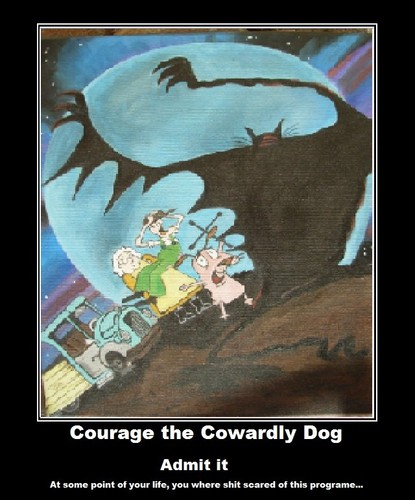 Courage the Cowardly Dog Обои containing Аниме entitled scary Показать