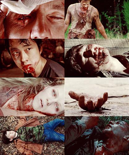 screencap meme →The Walking Dead + bruised & battered