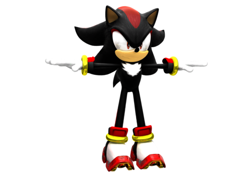 shadow the hedgehog 3D model