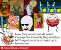 srsly,why? - courage-the-cowardly-dog fan art
