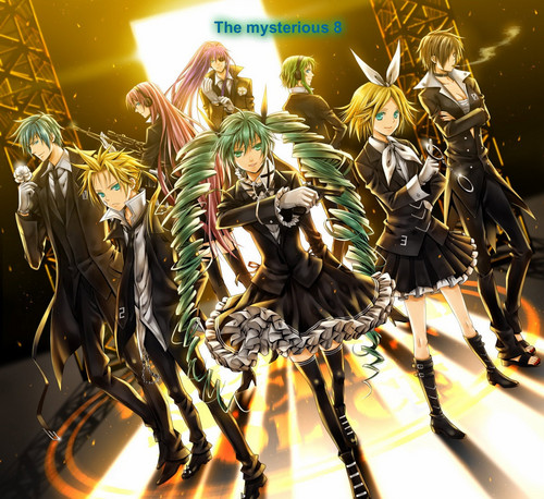 Rin und Len Kagamine Hintergrund called the mysterious 8