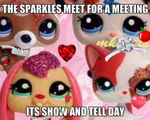 the sparkles