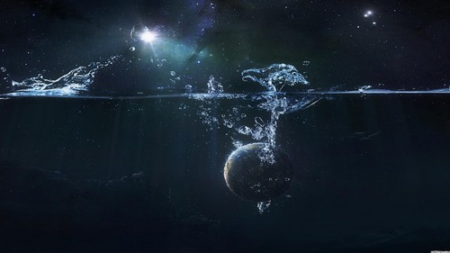 water/Earth abstract 宇宙