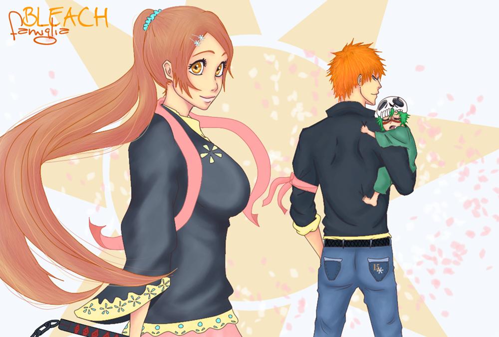 Bleach famiglia by Rei-Ami - Ichigo & Orihime Fan Art ...