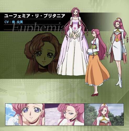 Code Geass karatasi la kupamba ukuta probably containing anime called ♥ Euphie and Shirley ♥
