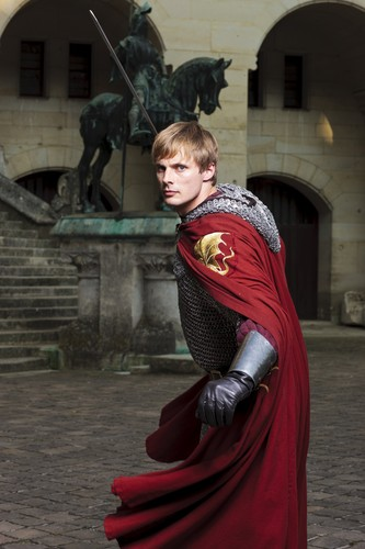 Bradley James wallpaper possibly containing a surcoat and a street called ''Merlin''_5 season