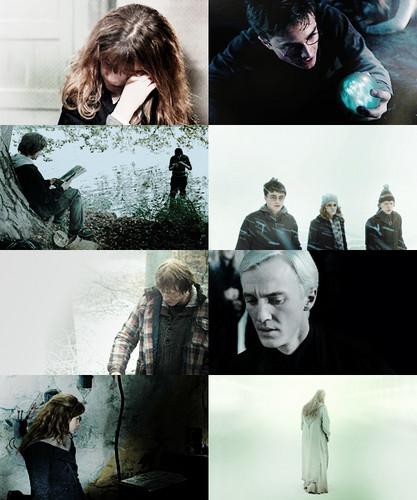 screencap meme: Harry Potter + looking down
