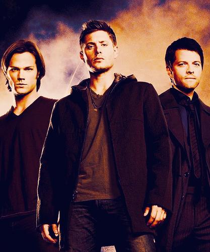 Cas, Sam and Dean